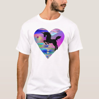 抵抗できないUtherworldのユニコーンの芸術のTシャツ Tシャツ