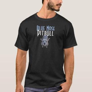 抵抗できなく青い鼻のピットブルの黒のTシャツ Tシャツ
