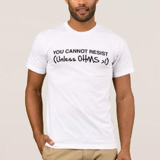 抵抗できません Tシャツ