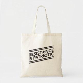 抵抗は愛国心が強いトートバックです トートバッグ