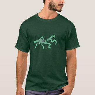 押されるカマキリヒューゴを祈るゴム印 Tシャツ