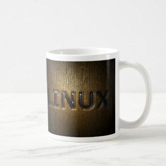 押されるLINUX コーヒーマグカップ