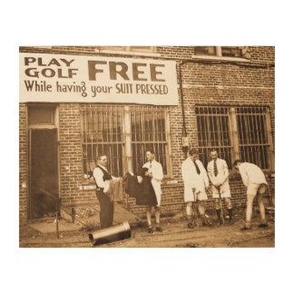 (押してあなたのスーツをもらう間)自由な演劇のゴルフ ウッドウォールアート