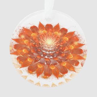 抽象デザインのフラクタルのオレンジの花 オーナメント