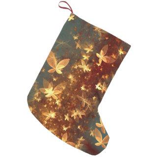 抽象デザインのフラクタルの蝶 スモールクリスマスストッキング