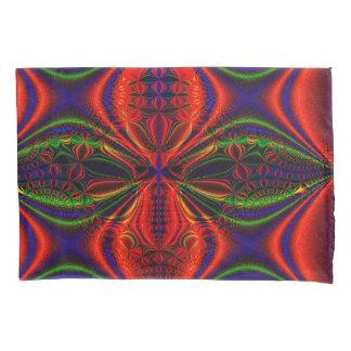 抽象デザインの赤い緑および青のデザイン 枕カバー