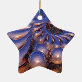 抽象デザイン 陶器製星型オーナメント