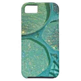 抽象的できらびやかな緑 iPhone SE/5/5s ケース