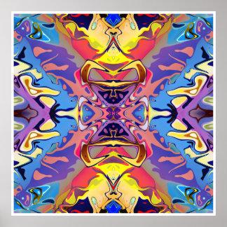 抽象的でカラフルな対称 ポスター