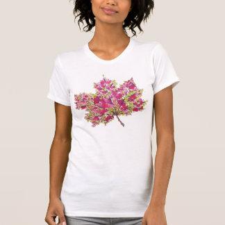 抽象的でカラフルな水彩画の秋の葉 Tシャツ