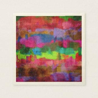 抽象的でカラフルな水彩画パターン スタンダードカクテルナプキン