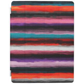 抽象的でカラフルな水彩画パターン#3 iPadスマートカバー