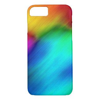 抽象的でカラフルな虹の絞り染め iPhone 8/7ケース