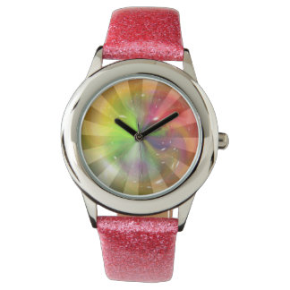 抽象的でカラフルな銀河系の渦巻2 腕時計