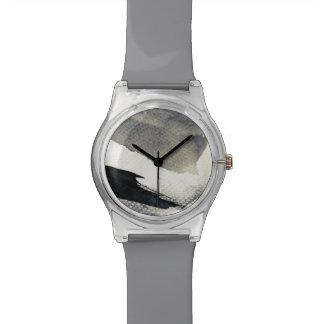 抽象的でグランジな背景、インク質。 4 腕時計