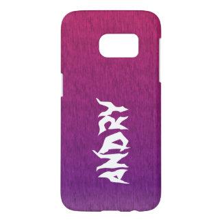 抽象的でサイケデリックなピンクの紫色 SAMSUNG GALAXY S7 ケース
