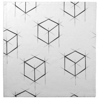 抽象的でモダンな青写真のスタイルの立方箱 ナプキンクロス