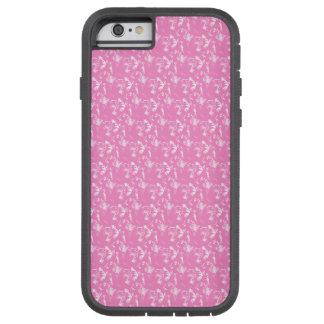 抽象的でユニークなピンクおよび白いパターン TOUGH XTREME iPhone 6 ケース