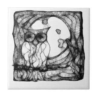 抽象的で不機嫌なフクロウ タイル