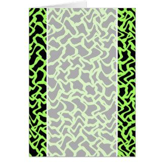 抽象的で写実的なパターン黒およびライムグリーン カード