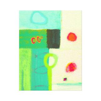 抽象的で冷たい春の朝 キャンバスプリント