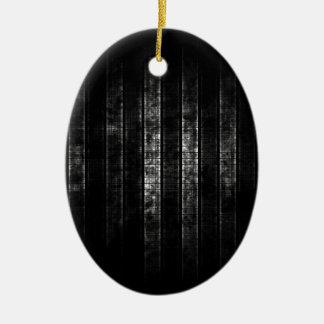 抽象的で動揺してな白黒ライン セラミックオーナメント