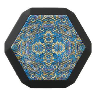 抽象的で多彩な手描きの巻き毛パターンデザイン ブラックBluetoothスピーカー