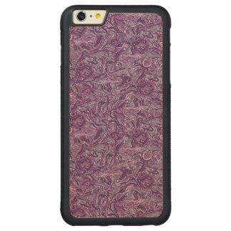抽象的で多彩な手描きの巻き毛パターンデザイン CarvedメープルiPhone 6 PLUSバンパーケース