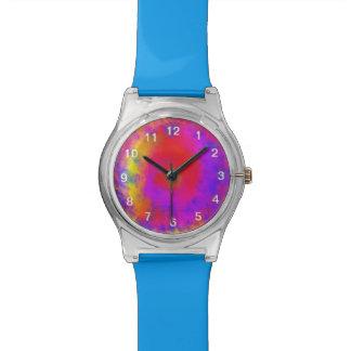 抽象的で多彩な無秩序パターン 腕時計