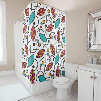 抽象的で幾何学的でカラフルで継ぎ目が無いパターン シャワーカーテン