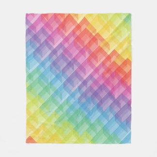 抽象的で幾何学的でカラフルな虹の立方体毛布 フリースブランケット