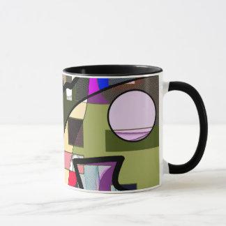 抽象的で幾何学的でモダンなマグ マグカップ