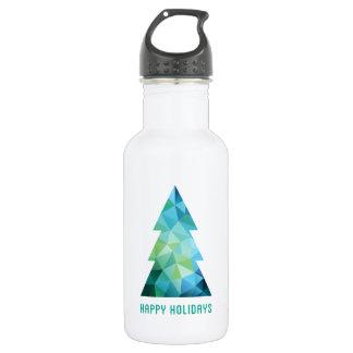 抽象的で幾何学的なクリスマスツリー ウォーターボトル