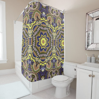 抽象的で幾何学的なパターン シャワーカーテン