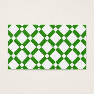 抽象的で幾何学的なパターン-緑および白 名刺
