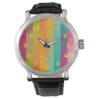 抽象的で幾何学的なパターン 腕時計