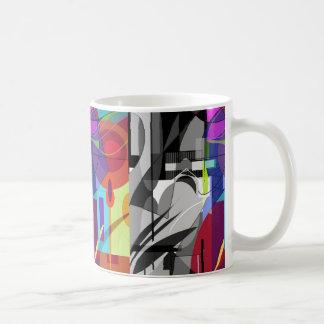 抽象的で幾何学的なマグ コーヒーマグカップ