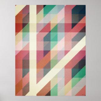 抽象的で幾何学的なライン ポスター