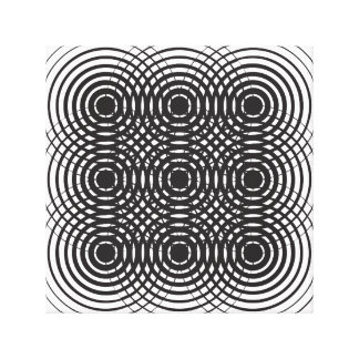 抽象的で幾何学的な白黒デザイン キャンバスプリント