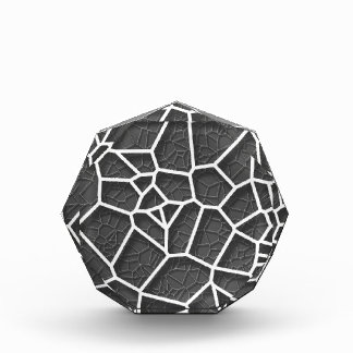 抽象的で幾何学的な科学の概念のvoronoi低いp 表彰盾