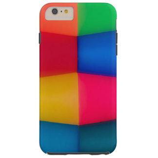 抽象的で数々のな着色された背景 TOUGH iPhone 6 PLUS ケース