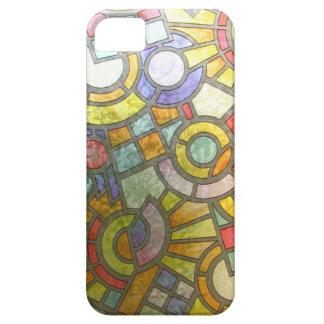 抽象的で旧式ながらくたのスタイルのファッションの芸術の固体Shin iPhone SE/5/5s ケース