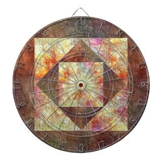 抽象的で明るい地球の調子の正方形のダイヤモンドのダート盤 ダーツボード