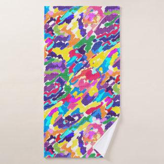 抽象的で明るい多彩 バスタオル