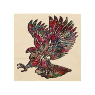 抽象的で模造のな金属種族のワシ ウッドウォールアート