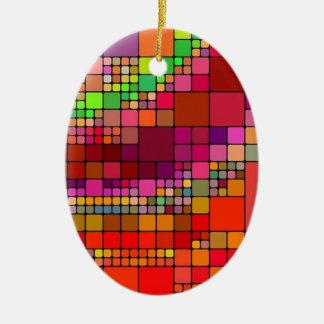 抽象的で無地のな多彩のブロック セラミックオーナメント