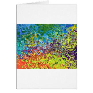 抽象的で芸術的で多彩なデザイン カード