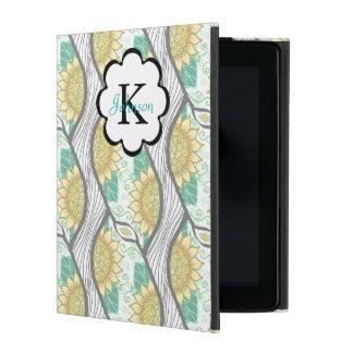 抽象的で装飾的なヒマワリPersonalizable iPad ケース