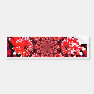 抽象的で赤いダリア バンパーステッカー