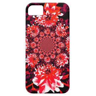 抽象的で赤いダリア iPhone SE/5/5s ケース